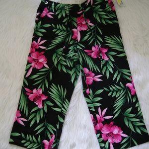 Versailles stretch floral printed pants sz 10